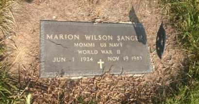 SANGER, MARION WILSON - Clark County, Ohio | MARION WILSON SANGER - Ohio Gravestone Photos