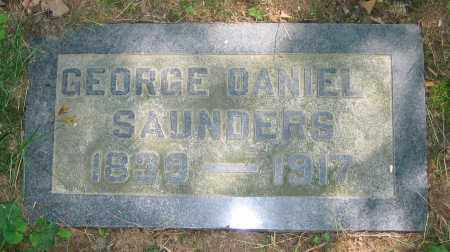 SAUNDERS, GEORGE DANIEL - Clark County, Ohio | GEORGE DANIEL SAUNDERS - Ohio Gravestone Photos