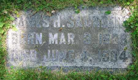 SAUNDERS, JAMES H. - Clark County, Ohio | JAMES H. SAUNDERS - Ohio Gravestone Photos