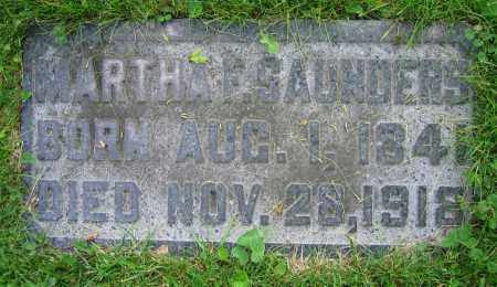 SAUNDERS, MARTHA F. - Clark County, Ohio | MARTHA F. SAUNDERS - Ohio Gravestone Photos