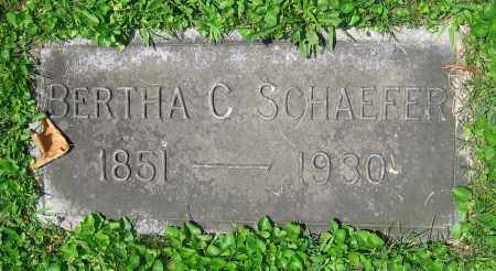 SCHAEFER, BERTHA C. - Clark County, Ohio | BERTHA C. SCHAEFER - Ohio Gravestone Photos