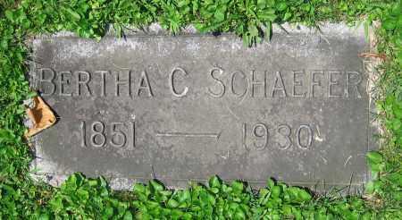 SCHAEFER, BERTHA C. - Clark County, Ohio | BERTHA C. SCHAEFER - Ohio Gravestone Photos