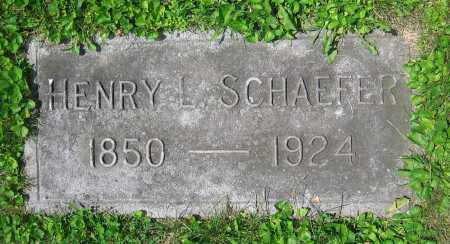 SCHAEFER, HENRY L. - Clark County, Ohio | HENRY L. SCHAEFER - Ohio Gravestone Photos