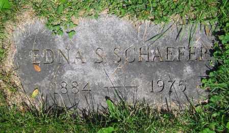 SCHAEFER, EDNA S. - Clark County, Ohio | EDNA S. SCHAEFER - Ohio Gravestone Photos