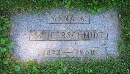 SCHEERSCHMIDT, ANNA A. - Clark County, Ohio | ANNA A. SCHEERSCHMIDT - Ohio Gravestone Photos