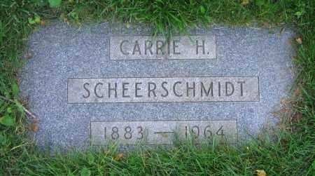 SCHEERSCHMIDT, CARRIE H. - Clark County, Ohio | CARRIE H. SCHEERSCHMIDT - Ohio Gravestone Photos