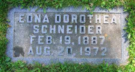 SCHNEIDER, EDNA DOROTHEA - Clark County, Ohio | EDNA DOROTHEA SCHNEIDER - Ohio Gravestone Photos