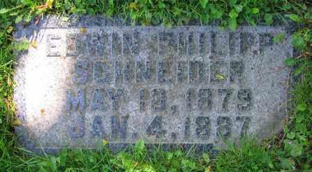 SCHNEIDER, EDWIN PHILIPP - Clark County, Ohio | EDWIN PHILIPP SCHNEIDER - Ohio Gravestone Photos