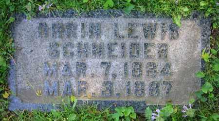 SCHNEIDER, ORRIN LEWIS - Clark County, Ohio | ORRIN LEWIS SCHNEIDER - Ohio Gravestone Photos