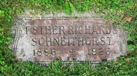 RICHARDS SCHNEITHORST, ESTHER - Clark County, Ohio | ESTHER RICHARDS SCHNEITHORST - Ohio Gravestone Photos