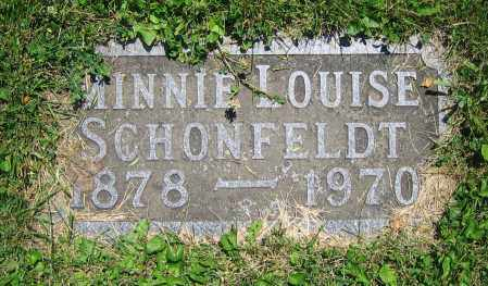 SCHONFELDT, MINNIE LOUISE - Clark County, Ohio | MINNIE LOUISE SCHONFELDT - Ohio Gravestone Photos