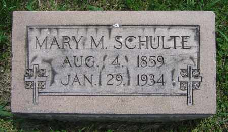 SCHULTE, MARY M. - Clark County, Ohio | MARY M. SCHULTE - Ohio Gravestone Photos