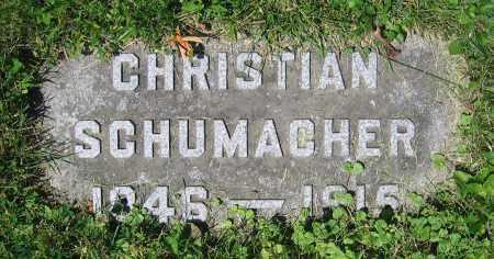 SCHUMACHER, CHRISTIAN - Clark County, Ohio | CHRISTIAN SCHUMACHER - Ohio Gravestone Photos