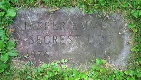 SECREST, JASPER EMMETT  D.D.S. - Clark County, Ohio | JASPER EMMETT  D.D.S. SECREST - Ohio Gravestone Photos