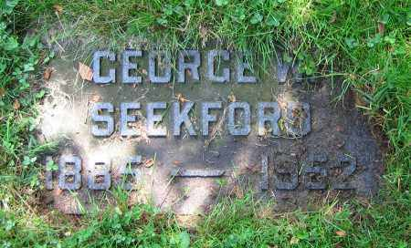 SEEKFORD, GEORGE W. - Clark County, Ohio | GEORGE W. SEEKFORD - Ohio Gravestone Photos