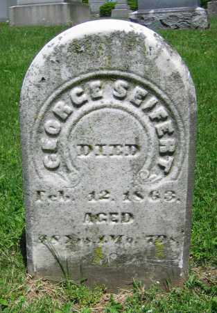 SEIFERT, GEORGE - Clark County, Ohio | GEORGE SEIFERT - Ohio Gravestone Photos