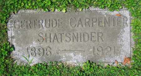 CARPENTER SHATSNIDER, GERTRUDE - Clark County, Ohio | GERTRUDE CARPENTER SHATSNIDER - Ohio Gravestone Photos