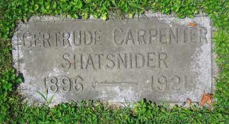 SHATSNIDER, GERTRUDE - Clark County, Ohio | GERTRUDE SHATSNIDER - Ohio Gravestone Photos