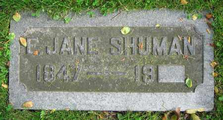 SHUMAN, E. JANE - Clark County, Ohio | E. JANE SHUMAN - Ohio Gravestone Photos