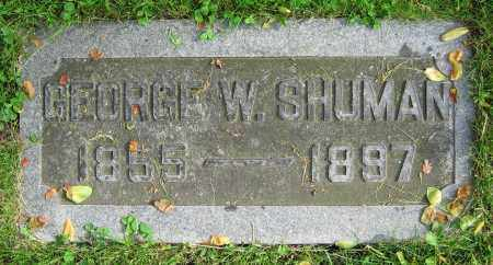 SHUMAN, GEORGE W. - Clark County, Ohio | GEORGE W. SHUMAN - Ohio Gravestone Photos