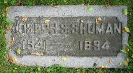 SHUMAN, JOSEPH S. - Clark County, Ohio | JOSEPH S. SHUMAN - Ohio Gravestone Photos
