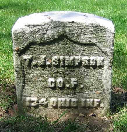 SIMPSON, T.J. - Clark County, Ohio   T.J. SIMPSON - Ohio Gravestone Photos