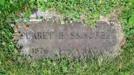 SNAUFER, CLARET B. - Clark County, Ohio | CLARET B. SNAUFER - Ohio Gravestone Photos