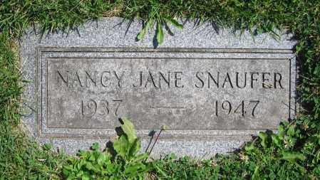 SNAUFER, NANCY JANE - Clark County, Ohio | NANCY JANE SNAUFER - Ohio Gravestone Photos