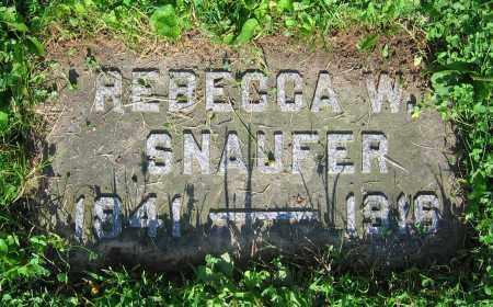 SNAUFER, REBECCA W. - Clark County, Ohio | REBECCA W. SNAUFER - Ohio Gravestone Photos