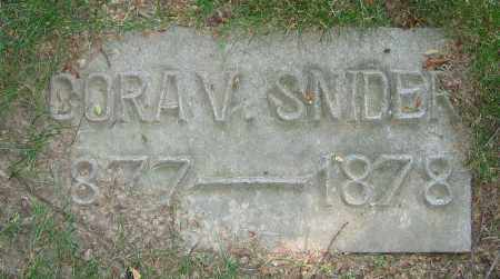 SNIDER, CORA V. - Clark County, Ohio | CORA V. SNIDER - Ohio Gravestone Photos