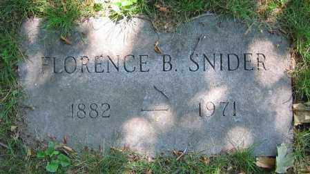 SNIDER, FLORENCE B. - Clark County, Ohio | FLORENCE B. SNIDER - Ohio Gravestone Photos