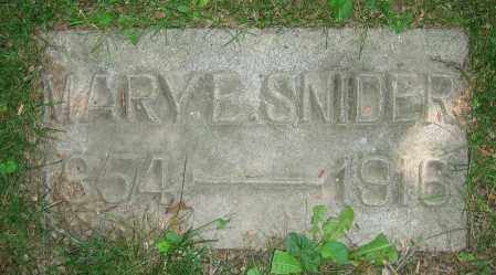 SNIDER, MARY E. - Clark County, Ohio | MARY E. SNIDER - Ohio Gravestone Photos