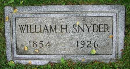 SNYDER, WILLIAM H. - Clark County, Ohio | WILLIAM H. SNYDER - Ohio Gravestone Photos