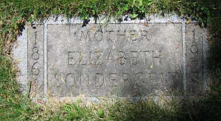 SONDERGELT, ELIZABETH - Clark County, Ohio | ELIZABETH SONDERGELT - Ohio Gravestone Photos