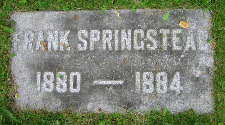 SPRINGSTEAD, FRANK - Clark County, Ohio | FRANK SPRINGSTEAD - Ohio Gravestone Photos