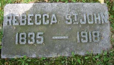 ST.JOHN, REBECCA - Clark County, Ohio | REBECCA ST.JOHN - Ohio Gravestone Photos