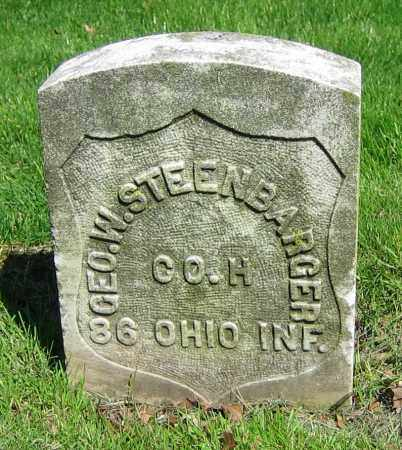 STEENBARGER, GEO. W. - Clark County, Ohio | GEO. W. STEENBARGER - Ohio Gravestone Photos