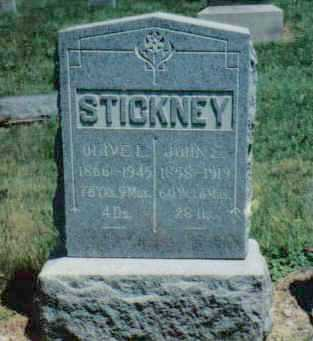STICKNEY, JOHN E - Clark County, Ohio | JOHN E STICKNEY - Ohio Gravestone Photos