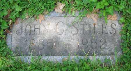 STILES, JOHN C. - Clark County, Ohio | JOHN C. STILES - Ohio Gravestone Photos