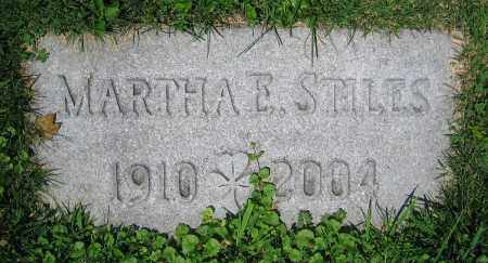 STILES, MARTHA E. - Clark County, Ohio | MARTHA E. STILES - Ohio Gravestone Photos