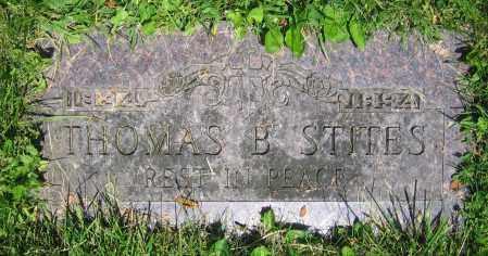 STITES, THOMAS B. - Clark County, Ohio | THOMAS B. STITES - Ohio Gravestone Photos