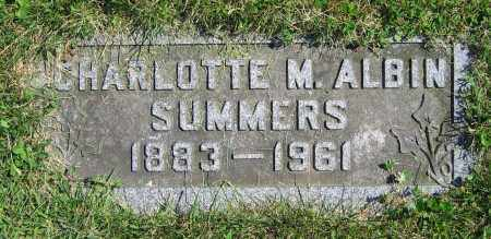 ALBIN SUMMERS, CHARLOTTE M. - Clark County, Ohio | CHARLOTTE M. ALBIN SUMMERS - Ohio Gravestone Photos