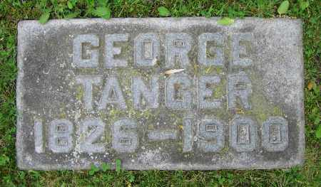 TANGER, GEORGE - Clark County, Ohio | GEORGE TANGER - Ohio Gravestone Photos