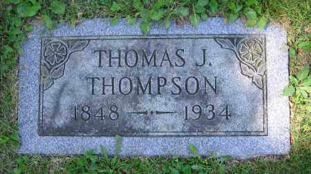THOMPSON, THOMAS J. - Clark County, Ohio | THOMAS J. THOMPSON - Ohio Gravestone Photos