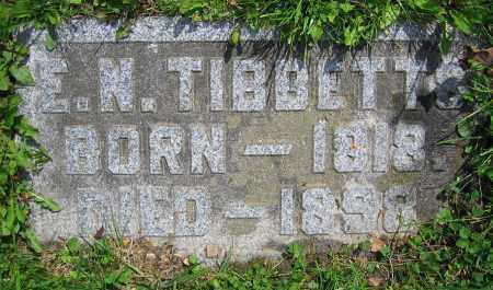 TIBBETTS, E.N. - Clark County, Ohio | E.N. TIBBETTS - Ohio Gravestone Photos
