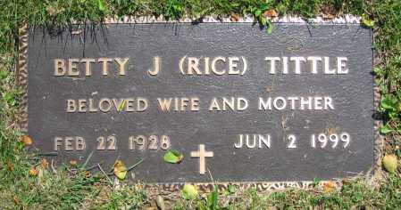 RICE TITTLE, BETTY J. - Clark County, Ohio | BETTY J. RICE TITTLE - Ohio Gravestone Photos