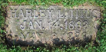 TITUS, HARLEY L. - Clark County, Ohio | HARLEY L. TITUS - Ohio Gravestone Photos