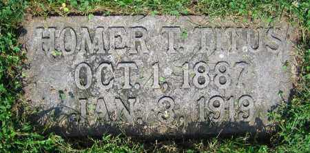 TITUS, HOMER T. - Clark County, Ohio | HOMER T. TITUS - Ohio Gravestone Photos