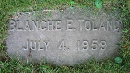 TOLAND, BLANCHE E. - Clark County, Ohio | BLANCHE E. TOLAND - Ohio Gravestone Photos