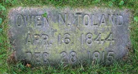 TOLAND, OWEN N. - Clark County, Ohio | OWEN N. TOLAND - Ohio Gravestone Photos